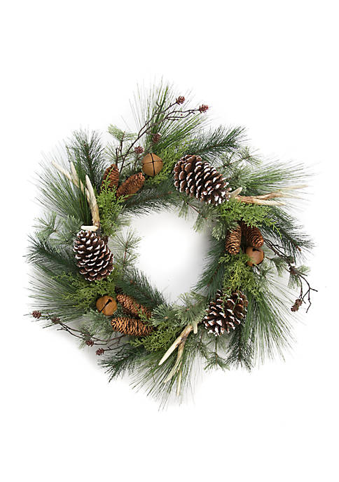 Modern. Southern. Home.™ Woodland Winter Faux Antler Wreath