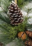 Woodland Winter Faux Antler Wreath