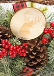 Woodland Winter Basket with Berries & Pinecones