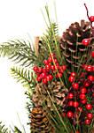Woodland Winter Berry & Pinecone Box