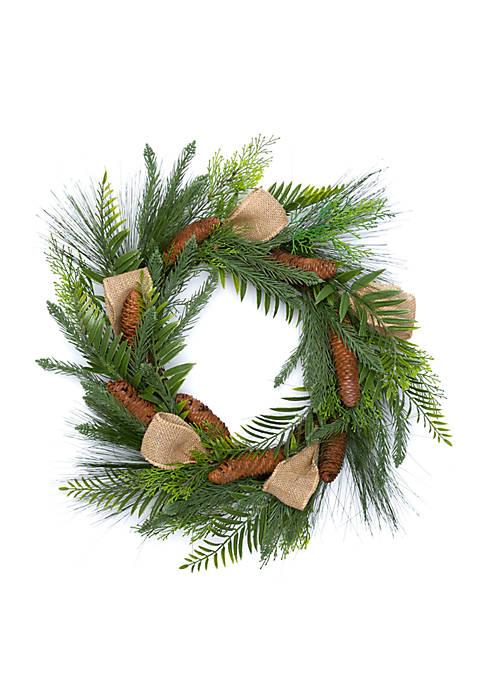 Woodland Winter Wood Pine Wreath