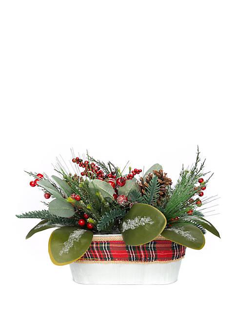 Woodland Winter Pine Planter