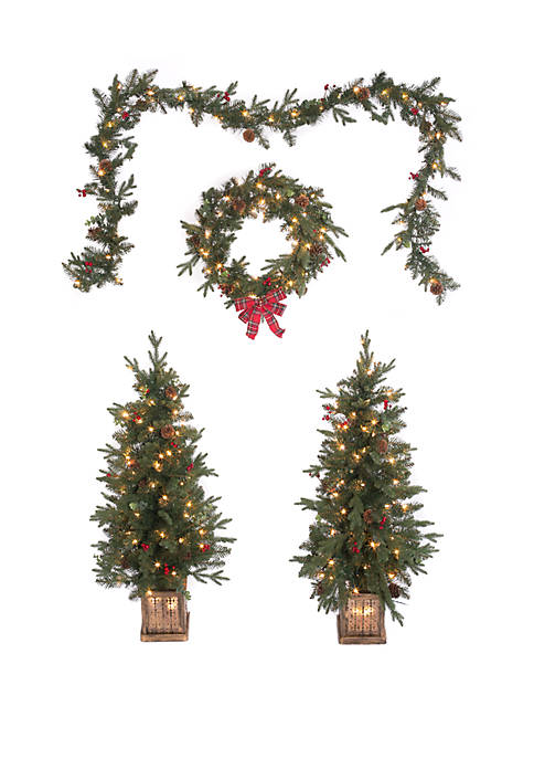 Joyland 4 Piece Christmas Entryway Set
