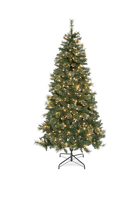 4.5 Foot Pre Lit Spruce Tree with Metal Stand