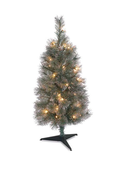 Joyland 3 Feet Aqua Glitter Tree