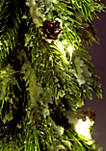22 inch Plastic Tree with LED Lights