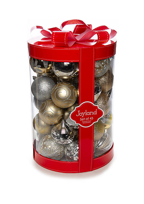 45 Count Silver & Gold Ornament Set