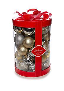Joyland 45 Count Silver & Gold Ornament Set
