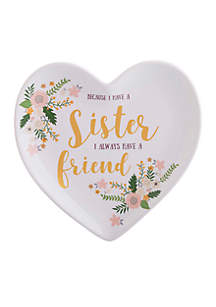 Sister Friend Heart-Shaped Tray With Gift Box