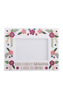 When I Count My Blessings Frame with Gift Box
