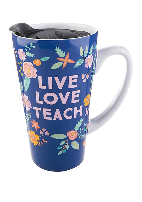 Live Love Teach Latte Mug