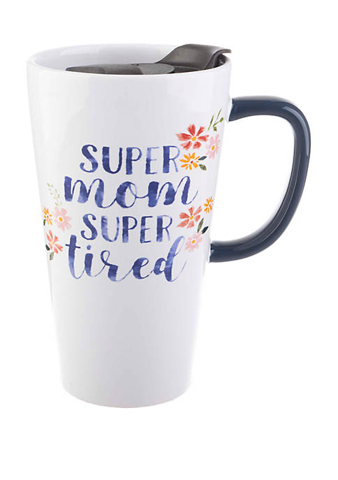 13 Once Latte Mug with Lid Super Mom Super Tired