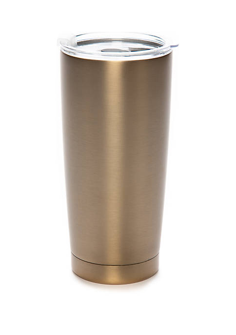 Crown & Ivy™ Stainless Steel Tumbler With Straw