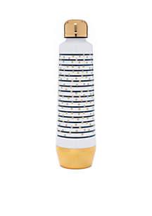 Blue Stripe with Gold Polka Dot Bottle