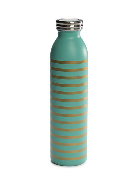 Retro Bottle With Gold Stripe