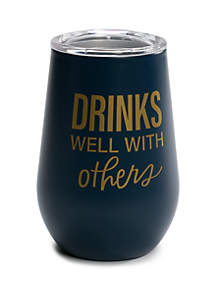 Crown & Ivy™ Drinks Well with Others Insulated Wine Glass