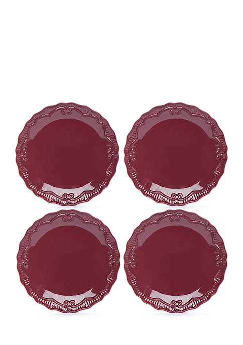 Modern. Southern. Home.™ Capri Cranberry Dinner Plate, Set