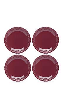Modern. Southern. Home.™ Capri Cranberry Dinner Plate, Set of 4