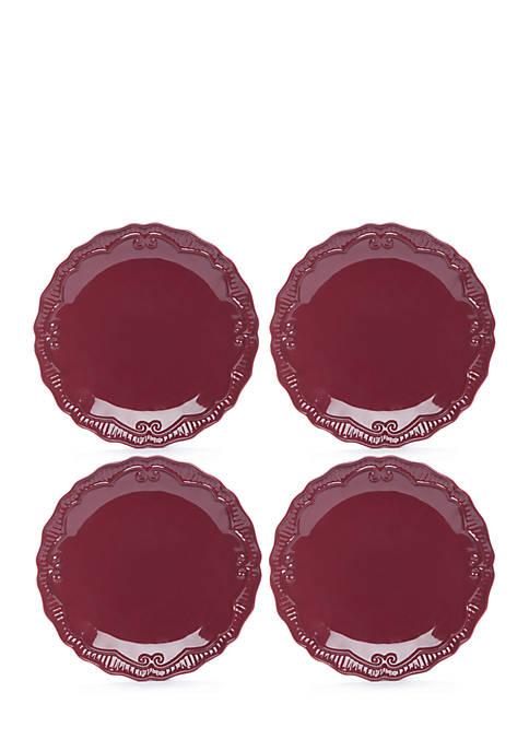 Modern. Southern. Home.™ Capri Cranberry Salad Plate Set