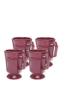 Modern. Southern. Home.™ Capri Cranberry Mug, Set of 4