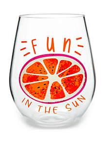 Modern. Southern. Home.™ Fun In The Sun Acrylic Stemless Wine Glass