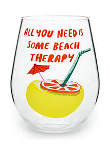 Modern. Southern. Home.™ Beach Therapy Acrylic Stemless Wine Glass