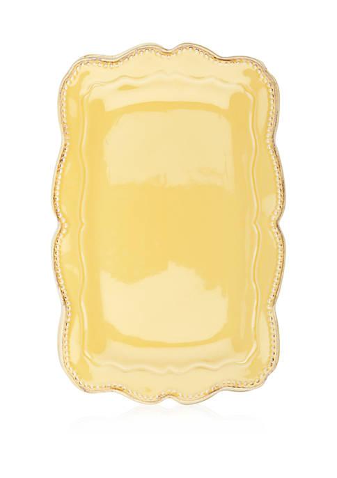 Capri Buttercup Rectangular Platter