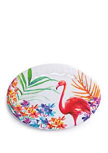 Modern. Southern. Home.™ Flamingo Melamine Oval Platter