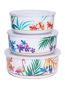 Modern. Southern. Home.™ Flamingo 3 Piece Storage Bowl Set