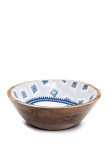 Modern. Southern. Home.™ Spanish Tile Wood Serving Bowl