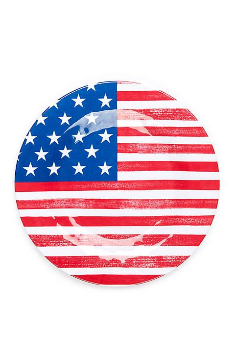 Modern. Southern. Home.™ Americana Melamine Flag Salad Plate