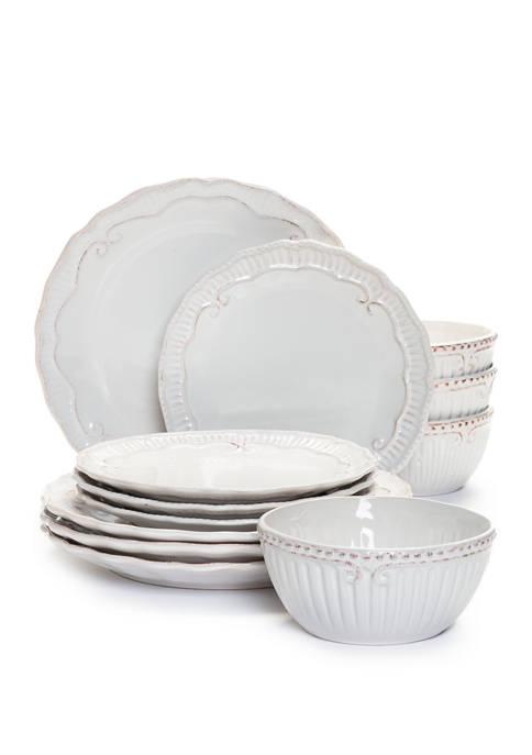Modern. Southern. Home.™ Capri White 12 Piece Dinnerware