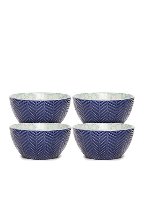 Crown & Ivy™ Quatrafoil Icon Bowl, Set of