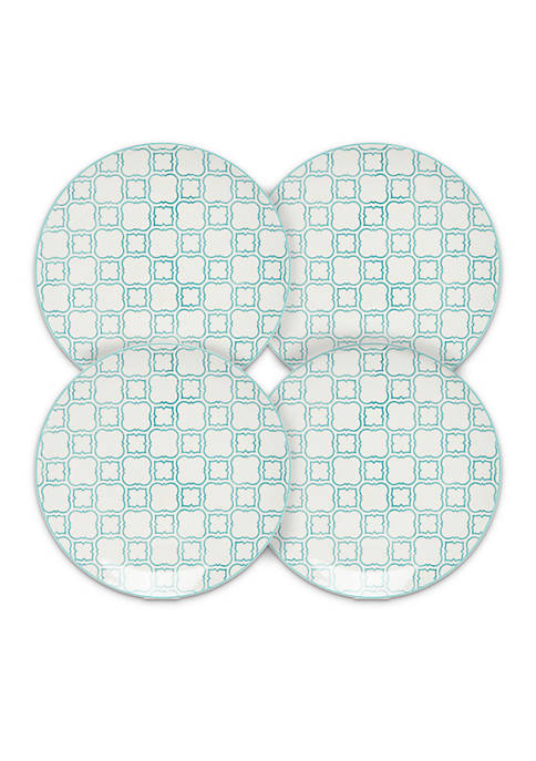 Crown & Ivy™ Quatrafoil Icon Salad Plate, Set