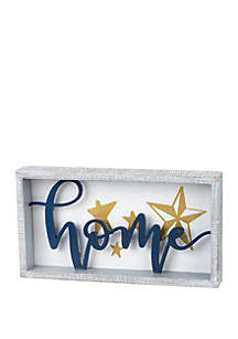 PRIMITIVES by Kathy Home Galvanized Metal Framed Box Sign