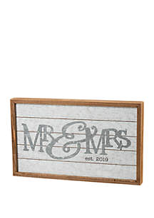 PRIMITIVES by Kathy Framed Slat Mr and Mrs Art
