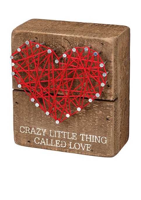 PRIMITIVES by Kathy Small Heart String Art