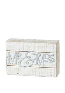 PRIMITIVES by Kathy Slat Mr and Mrs Box Sign