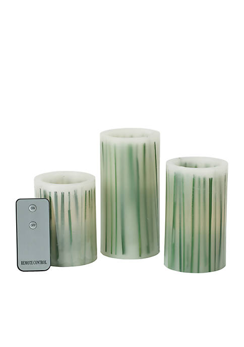 Modern. Southern. Home.™ LED Wax Pillars, Set of