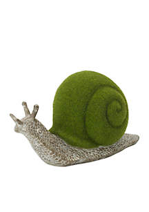 Snail With Moss Ball Figurine, 8-in.
