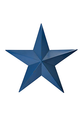 Modern Southern Home Blue Metal Star Wall Decoration