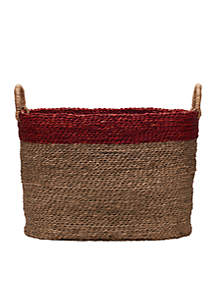 Large Oval Seagrass Basket