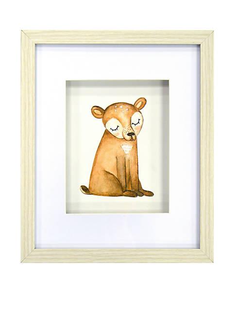 Lightning Bug Bear Framed Art Under Glass Shadowbox