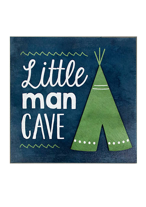 Lightning Bug Little Man Cave Wood Sign