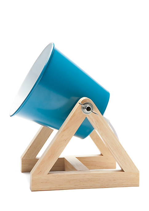 Lightning Bug Blue Drum Lamp