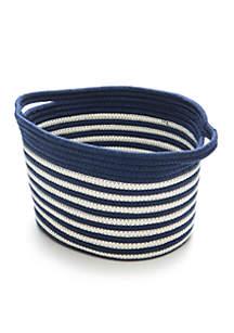 Navy and White Stripe Basket