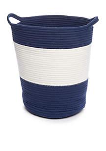 Navy & White Stripe Hamper