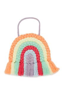 Lightning Bug Rainbow Yarn Wall Art