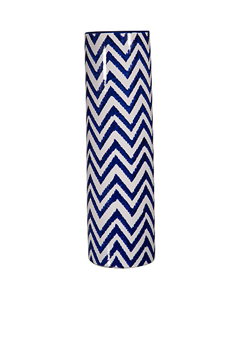 Modern. Southern. Home.™ Blue and White Chevron Vase