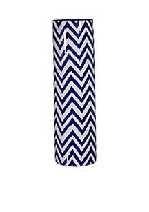Blue and White Chevron Vase